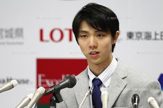 Yuzuru Hanyu (JPN), April 26, 2014 : Yuzuru Hanyu attends a press conference at Sendai City Hall at Miyagi, Japan. (Photo by AFLO SPORT) [1195]