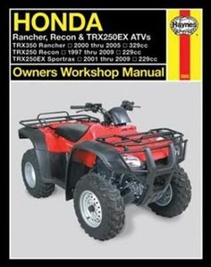 Honda ATV Owners: and (Owners Workshop Manual) Book annotation not available for this title.Title: Honda ATV OwnersAuthor: Haynes Manuals (EDT)Publisher: Motorbooks IntlPublication Date: of Pages: Binding Type: PAPERBACKLibrary of Congress: Cycle Shop, Engine Repair, Utv Parts, World Leaders, Trx, Repair Manuals, Quad, Honda, Monster Trucks