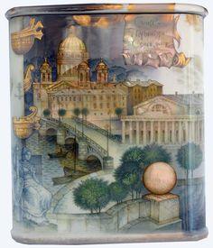 Kozlov Sergey, Fedoskino lacquer box, Panorama of Saint Petersburg, 2016, 3