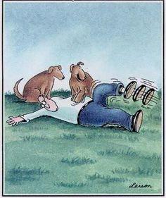 The ultimate dog revenge!  Gary Larson's The Far Side®