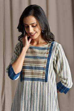 Kurti Patterns, Dress Patterns, Kurta Neck Design, Kurta Designs Women, Kurti Designs Party Wear, Long Shirt Dress, Cotton Dresses, Linen Dresses, Indian Designer Wear