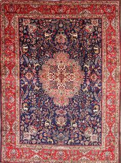 "Animal Pictorial 10x13 Tabriz Persian Area Rug Oriental Carpet 13' 1"" x 9' 5"" #Persian #TraditionalPersianOriental"