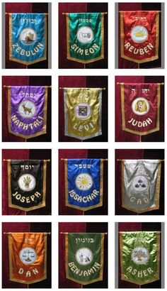 pictures of the flags of the 12 tribes of israel - Google Search