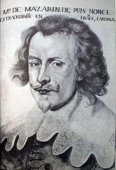 Giulio Raimondo Mazzarino ou Mazarini (1602-1661), Capitaine d'Infanterie en Valteline puis Nonce Extraordinaire du Pape en France, Cardinal. / Portrait de 1632, d'après Dumonstier.