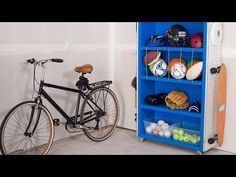 Sporting goods taking over your garage? Give them a home of their own with this handy DIY organizer made from an old bookcase. Get the step-by-step instructi. Clean Garage, Garage Shed, Diy Garage, Deep Drawer Organization, Garage Organization, Garage Storage, Organizing Tips, Diy Projects Garage, Outdoor Projects