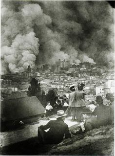 The San Francisco Earthquake and Fire, 1906, 5:12 a.m. on Wednesday, April 18. Devastating fires broke out in the city that lasted for several days. As a result of the quake and fires, about 3,000 people died and over 80% of San Francisco was destroyed.