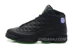 """newest f1d5d 836c0 Buy Mens Air Jordan 13 Retro """"Altitudes"""" Black Leather Altitude Green For  Sale Online from Reliable Mens Air Jordan 13 Retro """"Altitudes"""" Black ..."""