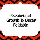 A fun foldable to teach or review exponential growth and decay functions.  ...