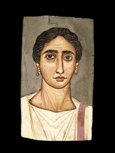 (c. 200 CE) Portrait of a Woman✖️Roman Fayum Mummy Portraits ✖️ More Pins Like This One At FOSTERGINGER @ Pinterest ✖️