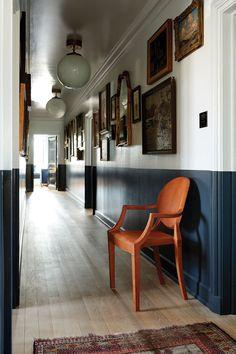 Neoclassical Design, Dark Trim, Up House, Soho House, Painting Trim, The Ranch, Wood Trim, Unique Furniture, Home Interior Design