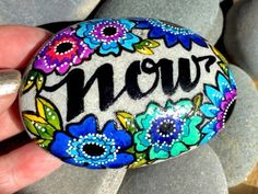 the power of now / painted rocks / painted by LoveFromCapeCod