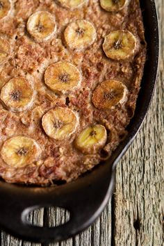 Vegan Bananas Foster Baked Oatmeal, from ohsheglows