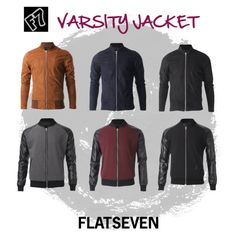 """FLATSEVEN #VARSITY #JACKET"" by flatseven on Polyvore #FLATSEVEN #Outfit #ideas #fashion #mens #clothing www.flatsevenshop.com"