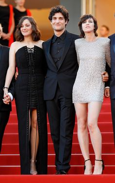 Ismael's Ghosts (Les Fantomes d'Ismael) Premiere & Opening Gala   Marion Cotillard in Jean Paul Gaultier Couture and Chopard jewelry, Louis Garrel and Charlotte Gainsbourg in Saint Laurent