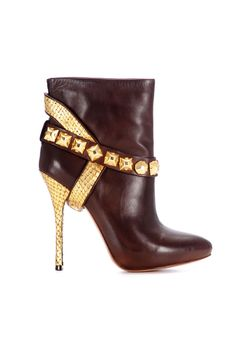 fall 2012, Jean-Michel Cazabat, shoes, boots + booties, brown