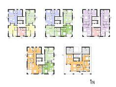 Architecture Concept Diagram, Architecture Plan, Residential Architecture, Home Design Floor Plans, Plan Design, House Floor Plans, Residential Building Plan, Flat Plan, Stair Plan