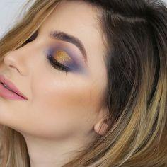 #smoky #eyemakeup #makeup #purple #gold #golden #crease