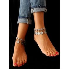 Dress up your ankles with this super cute boho style coin anklet. Your ankles deserve to look sexy too!