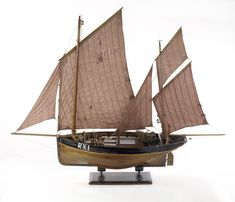 The Only One (circa 1860); Model Fishing vessel; Lugger; Hastings - National Maritime Museum