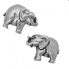 84df28543 Corinna-Maria 925 Sterling Silver Elephant Earrings Studs Tiny Mini  Stainless Steel Posts and Backs Cute little elephant earrings Made of 925  Sterling ...