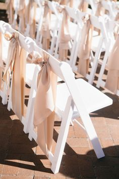 Ribbon Chair Ties | photography by http://www.shannonelizabethphoto.com | Michelle Leo Events, www.MichelleLeoEvents.com