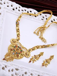 Gold Plated Haaram Set