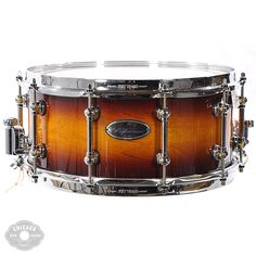Only smoke on this tobacco!  PEARL 6.5X14 REFERENCE PURE SNARE DRUM - VINTAGE TOBACCO BURST