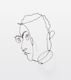 Calder, wire portraits.