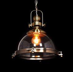 Industrialna LAMPA wisząca FALCO LDP 119-300 (MD) Lumina Deco przemysłowa OPRAWA zwis loft mosiądz