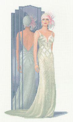 Lilly - John Clayton Elegance Cross Stitch Kit by Heritage Crafts