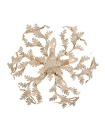 FCL1/L Flush Oak Leaf Ceiling Light, Antique White Finish