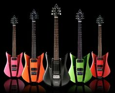 88 guitars five colorful picture and wallpaper