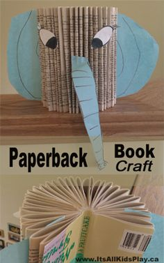 A super easy and fun paperback book craft for kids. What animal will you make?    #books #crafts #bookcrafts #kids #kidscrafts #literacy