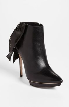 Alice + Olivia 'Darleen' Leather Bootie available at #Nordstrom