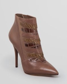 B Brian Atwood Pointed Toe Booties - Duris4 High Heel