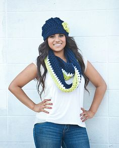 Seattle Seahawks Hat and Scarf Set SAVE 8 by SoLaynaInspirations, $58.00