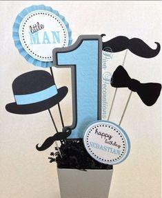 New baby boy birthday centerpieces little man Ideas Moustache Party, Mustache Theme, Mustache Birthday, Baby Boy Birthday, Little Man Birthday Party Ideas, Little Man Party, 1st Birthday Themes, 1st Birthday Parties, Birthday Ideas