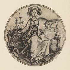 Seated Lady Holding a Shield with an Unicorn Artist: Martin Schongauer (German, Colmar ca. 1435/50–1491 Breisach) Date: 15th century Medium: Engraving Dimensions: Diameter: 3 1/16 in. (7.8 cm) Classification: Prints Credit Line: Harris Brisbane Dick Fund, 1928 Accession Number: 28.26.8 Not on view This artwork is part of Search for the Unicorn: An Exhibition in Honor of The Cloisters' 75th Anniversary