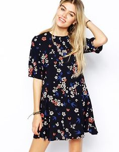 Enlarge Glamorous Fit and Flare Dress in Floral