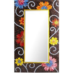 Covered with hand-painted colored glass, this Indonesian mosaic mirror can frame your life every day, brightening everyone's outlook. Or at least a room. It's n...