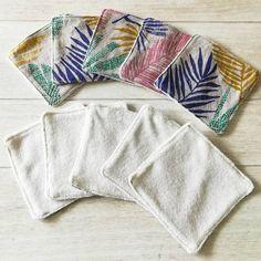 Lot de 10 Lingettes Lavables Feuillages Multicolores VieOnaturelle Lotion Tonique, Change, Blanket, Cleansing Milk, Birth, Blankets, Cover, Comforters