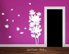Flower Decal Bloom Wall Sticker nature Decal Tall Group Bouquet Decal Floral Decal Nature Girls Living Teen Young Sweet