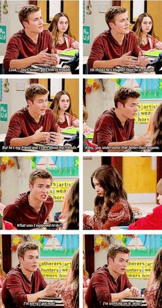 Girl Meets Secret of Life  <-- i love riley's reaction in the scene.  she's hurts by lucas' words, and she makes it clear, but she also holds her tongue and gives him a chance to apologize and explain, and forgives him for his indiscretions because he knows he did wrong and feels sorry for it