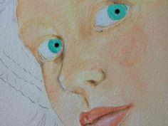 7) Dipingete l'iride con il sea breeze e la pupilla con il lamp ebony black