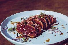 Beef Tataki mit Ponzu-Sauce