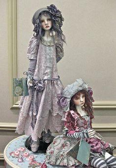 art dolls by Valerie Zeitler Clay Dolls, Bjd Dolls, Doll Toys, Pretty Dolls, Beautiful Dolls, Paperclay, Doll Parts, Dollhouse Dolls, Ball Jointed Dolls