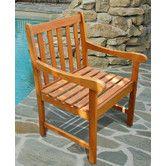 Found it at Wayfair - Outdoor Wood Nobi Armchair $70