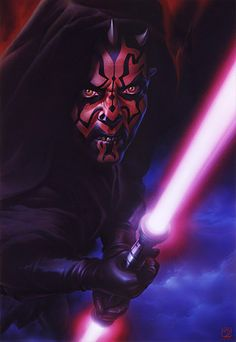 'Darth Maul II' (Episode I: The Phantom Menace) by Tsuneo Sanda Darth Maul, Star Wars Sith, Star Trek, Star Wars Personajes, Nerd, The Phantom Menace, The Force Is Strong, Star Wars Poster, Star Wars Collection