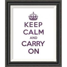 Global Gallery 'Keep Calm and Carry On - Texture VI' by the British Ministry of Information Framed Textual Art Size:
