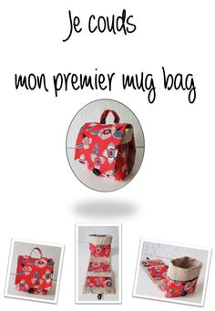 Fashion : Description Le mug bag - douceurnaturebyma. Mens Fashion Online, Diy Bags Purses, Creation Couture, Couture Sewing, Couture Fashion, Diy For Kids, Diy Gifts, Sewing Projects, Sewing Crafts